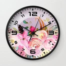 Flowers bouquet #40 Wall Clock