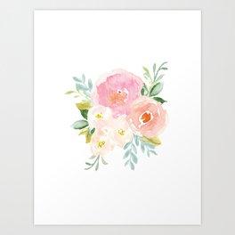 Sweet Pink Blooms (Floral 02) Art Print