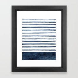 Watercolor Stripes Pattern Framed Art Print