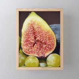 Still life fruit basket digital oil painting Framed Mini Art Print