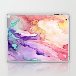 Color My World Watercolor Abstract Painting Laptop & iPad Skin