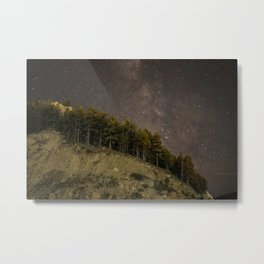 Mountain Milky way  Metal Print