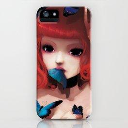 Chew my blue... iPhone Case