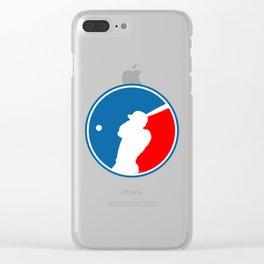 Blank Baseball Logo Clear iPhone Case