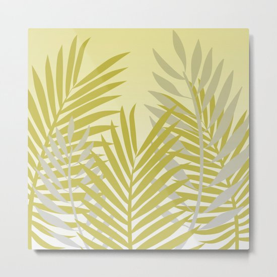 TROPICAL PALM LEAVES 2 Metal Print