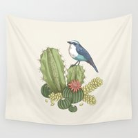 cactus Wall Tapestries featuring Cactus by Edurne Lacunza