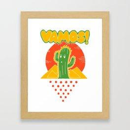 Vamos Framed Art Print