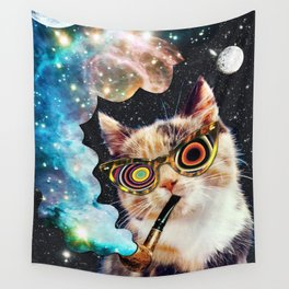 High Cat Wall Tapestry