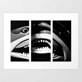 Shark Dentures Art Print