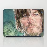 daryl dixon iPad Cases featuring Daryl Dixon by Mark Satchwill Art