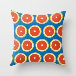 Blood orange pattern Throw Pillow