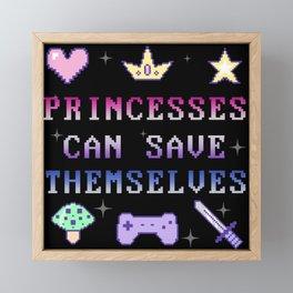 Independant Princess (dark) Framed Mini Art Print
