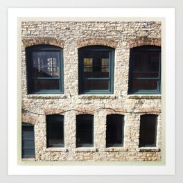 mill windows Art Print