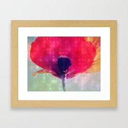 Mod Poppy Framed Art Print