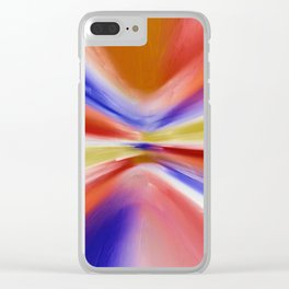 Colorful Painting Clear iPhone Case