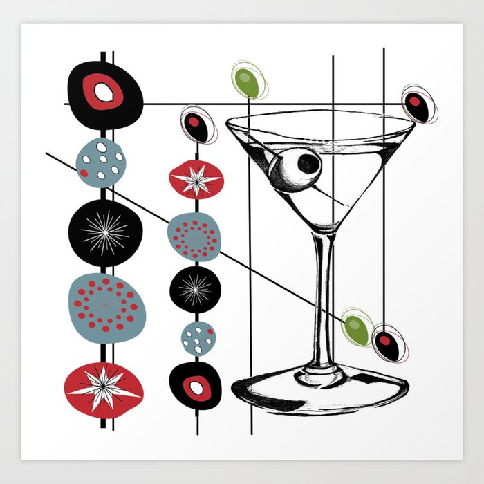 Mid-Century Modern Art Atomic Cocktail 3.0 Art Print