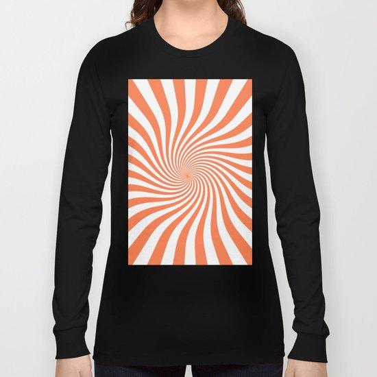 Swirl (Coral/White) Long Sleeve T-shirt