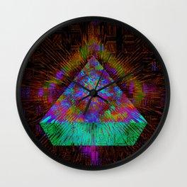 Green Pyramid Landing Wall Clock