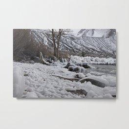 Icy Rocks Metal Print