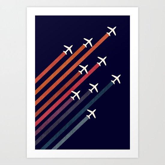 Aerial acrobat Art Print