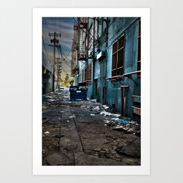 Flat Trash Art Print