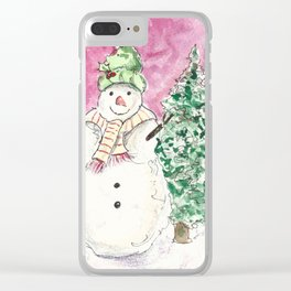 Bundled Up Clear iPhone Case