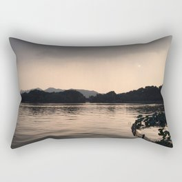 PERSPECTIVE // Sunset over West Lake, Hangzhou Rectangular Pillow