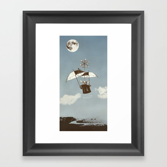 Over the Amazon to the Moon Framed Art Print