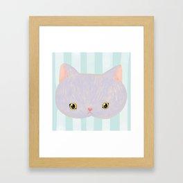 Russian Blue Cat Framed Art Print
