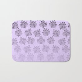 Abstract hand painted black lavender ombre floral Bath Mat