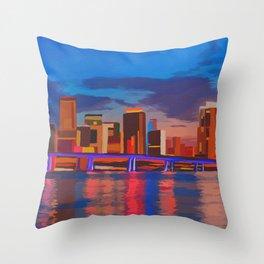 Miami Evening Throw Pillow