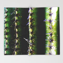Saguaro Ribs Throw Blanket