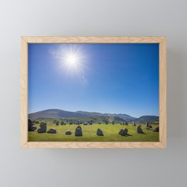 Castlerigg Stone Circle in English Lake District Framed Mini Art Print