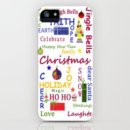 Christmas Message iPhone Case