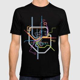 Simplified Columbus Transit Map T-shirt