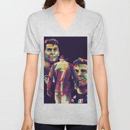 Ronaldo on WPAP Pop Art Portrait Unisex V-Neck
