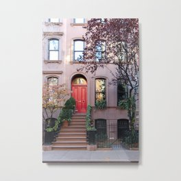 Christmas in the West Village  Metal Print