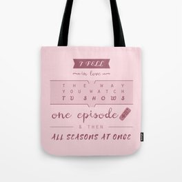 TFiOS misquote #1 (TV SHOWS) Tote Bag