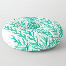 Kelp Forest Mermaid – Mint Palette Floor Pillow
