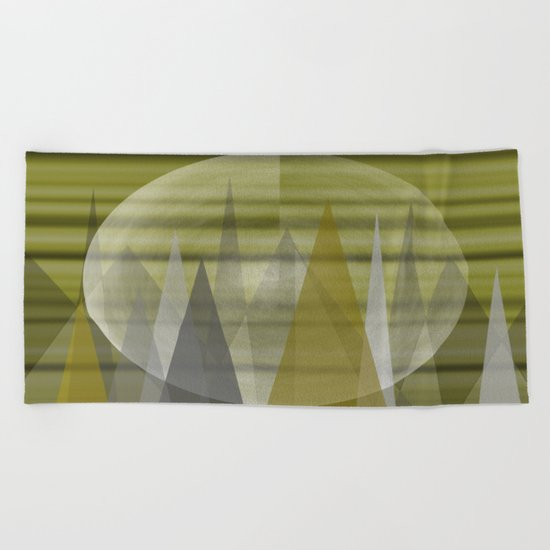 Mountain Moon Beach Towel