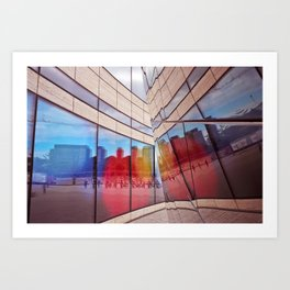 City Reflections Art Print