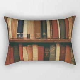 shelf of books Rectangular Pillow