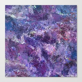 Violet drip abstraction Canvas Print