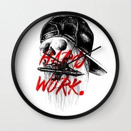 HARD WORK. Wall Clock
