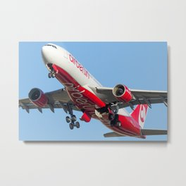 Air Berlin Airbus A330-223 Take-off Miami airplanes USA D-ALPJ Metal Print