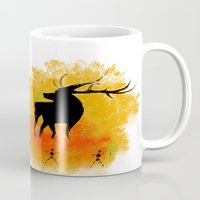native Mugs featuring Native by Max Wellsman