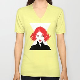 Black Widow Unisex V-Neck