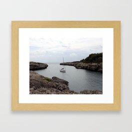 Boat on the Belearic Sea Framed Art Print