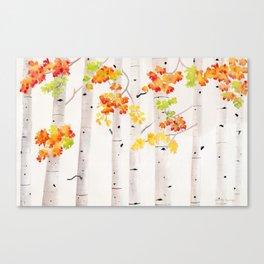 Autumn Birch Song Canvas Print