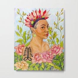 Portrait of Queen Calafia Metal Print